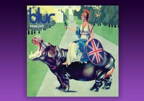 Portada disco del último disco de Blur, Parklive