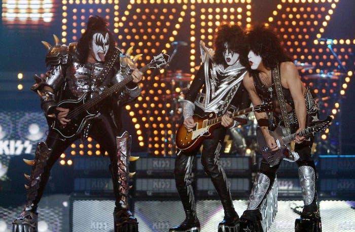 La banda Kiss en uno de sus conciertos de 2012