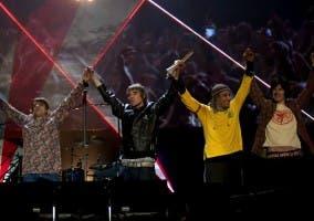 Stones Roses en una actuación de la gira de reunión 2012