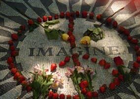 Imagen en recuerdo de John Lennon