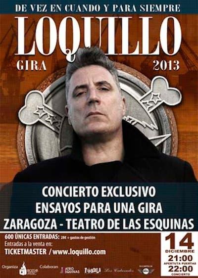 Loquillo ofrecerá un ensayo a puerta abierta previo a su nueva gira el 14 de diciembre en Zaragoza