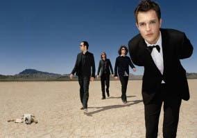 Fotografía de los componentes de The Killers