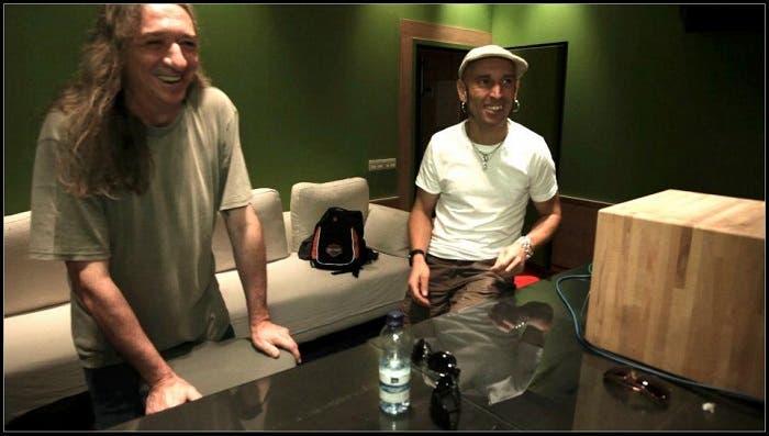 Rosendo y Fito en la grabación del disco de Rodrigo Mercado