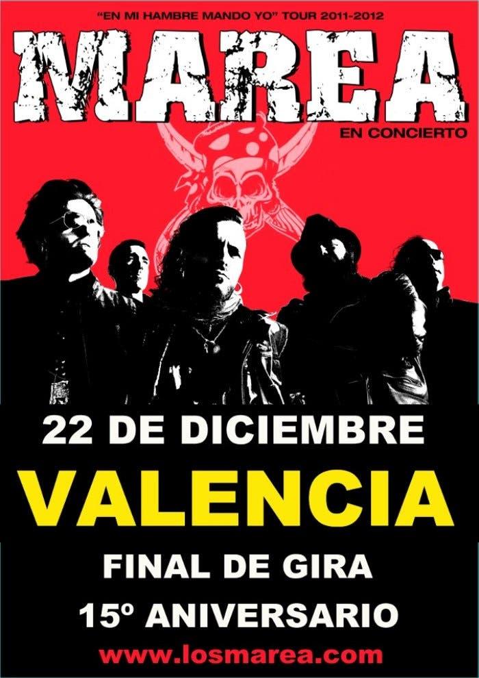 Cartel concierto Marea 22/12/12