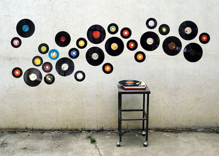 Collage discos de vinilo