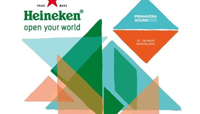 Imagen de presentación del cartel del Primavera Sound 2013