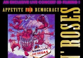 Cartel anunciador Apetite for Democracy GnR