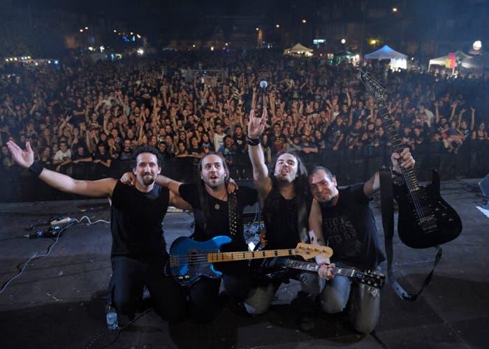 El grupo In Vain en el festival Granito Rock 2012