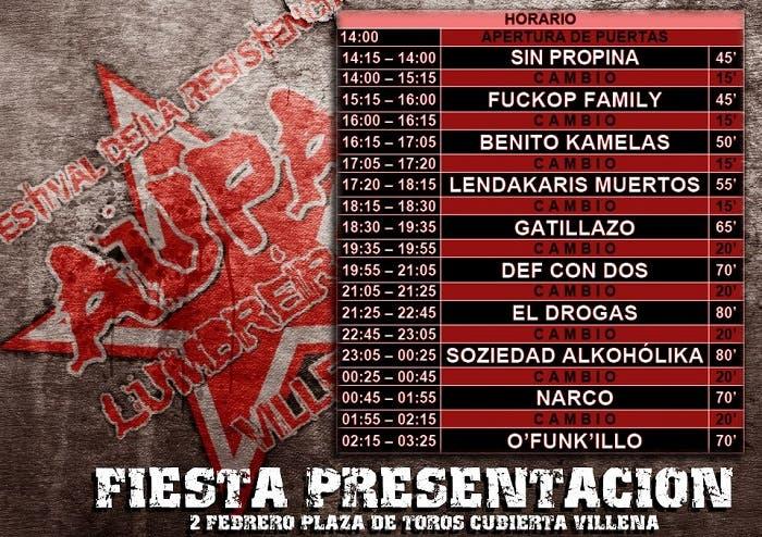 Imagen de Horarios Fiesta-presentación Aúpa Lumbreiras 2012