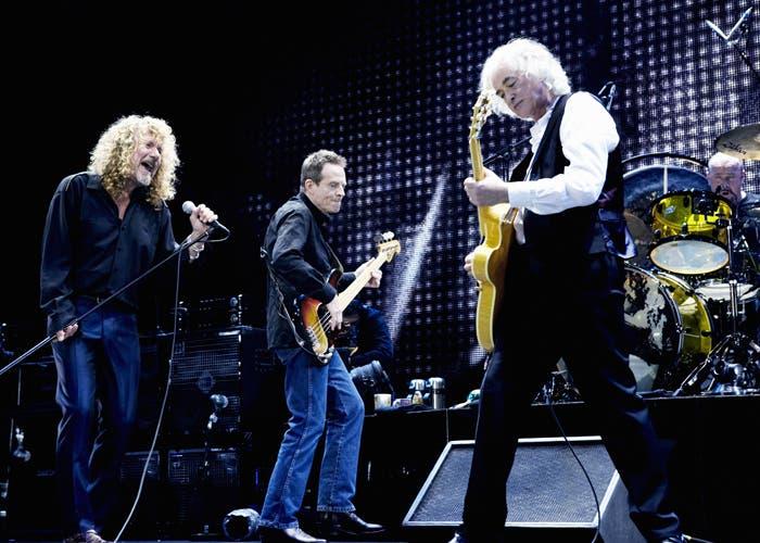 Imagen del concierto que realizó Led Zeppelin en 2007