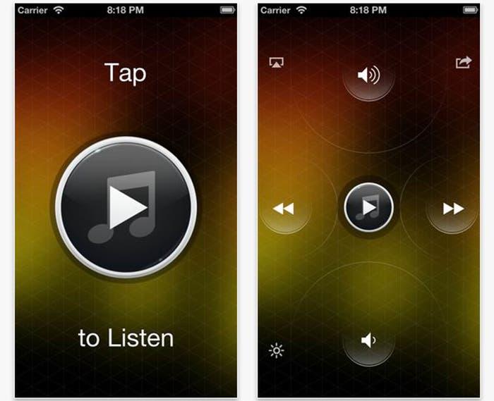 Capturas de pantalla de Listen para iOS