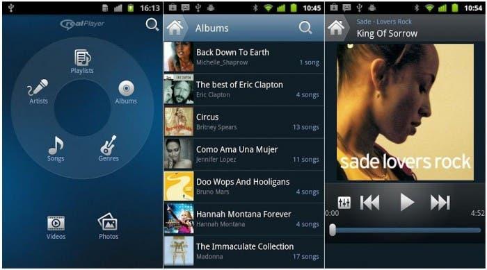 Imagen de RealPlayer para Android