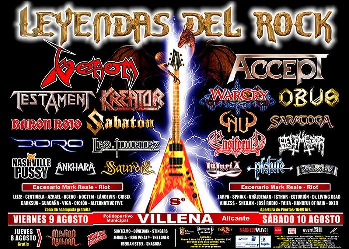 Cartel definitivo Leyendas del Rock 2013