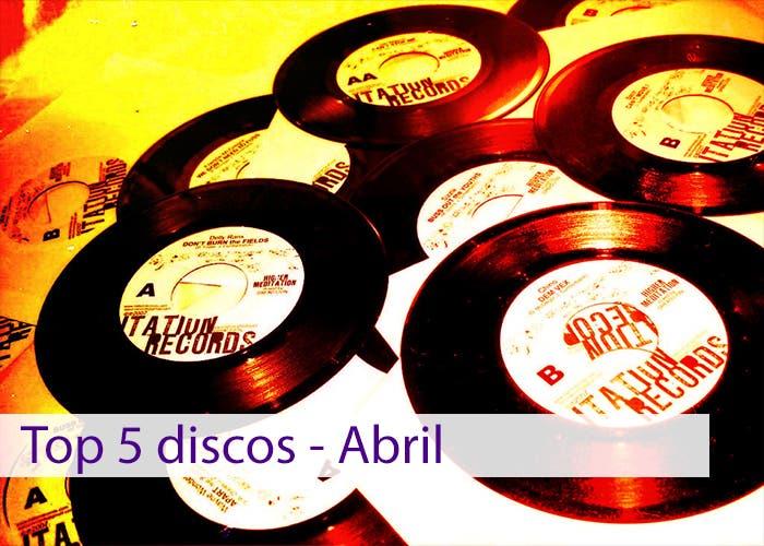 Imagen de presentación del Top 5 discos de abril