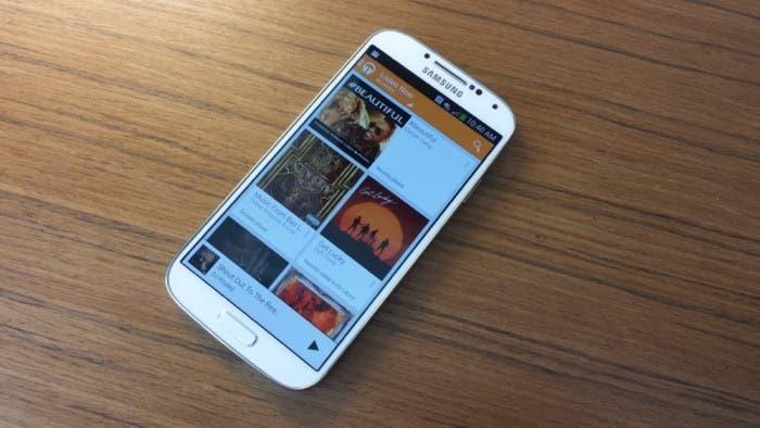 Imagen de Google Play Music en un Samsung Galaxy S III