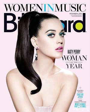 La revista Billboard nombró Katy Perry Mujer del año 2012