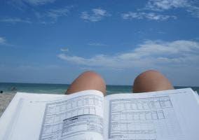 estudio y playa